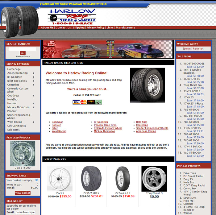 Harlow Racing Tires and Wheels